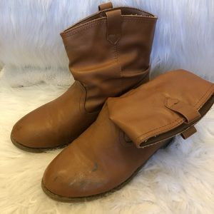 Girls Brown Slouch Boots Old Navy Size 1